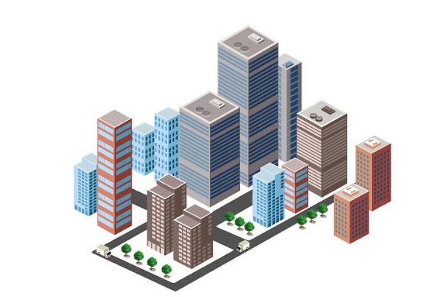 A business isometric city downtown example image 1
