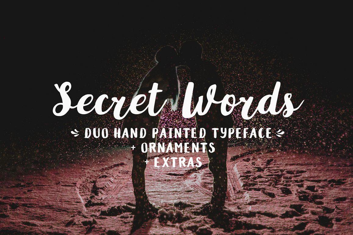 Secret Words Font Duo Bonus example image 1