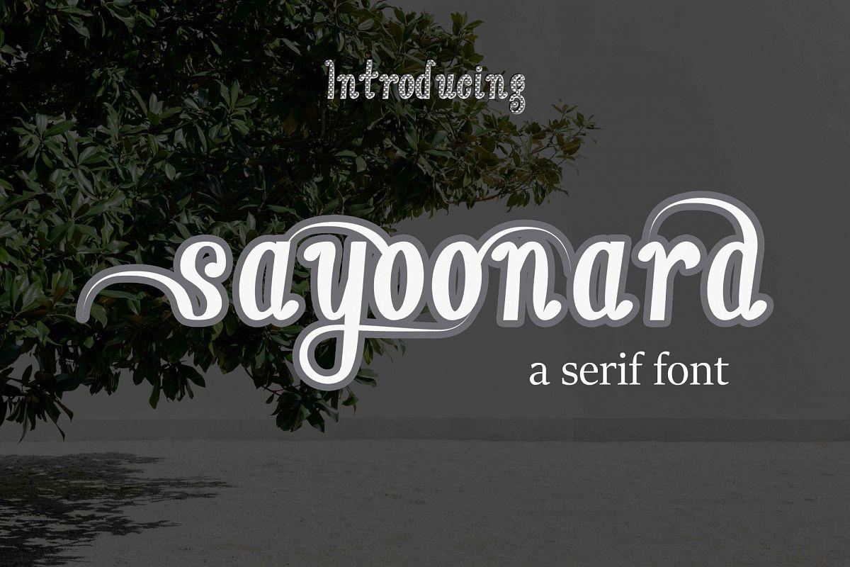 sayoonara example image 1