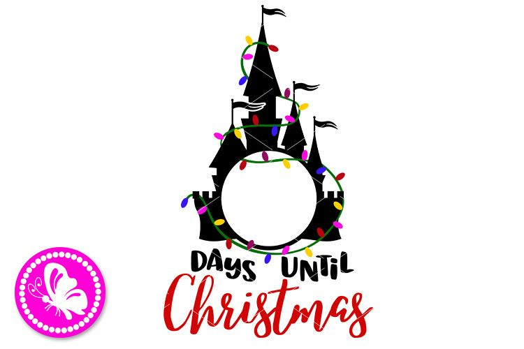 Days until Christmas Calendar Chalkboard Chart Garland light example image 1