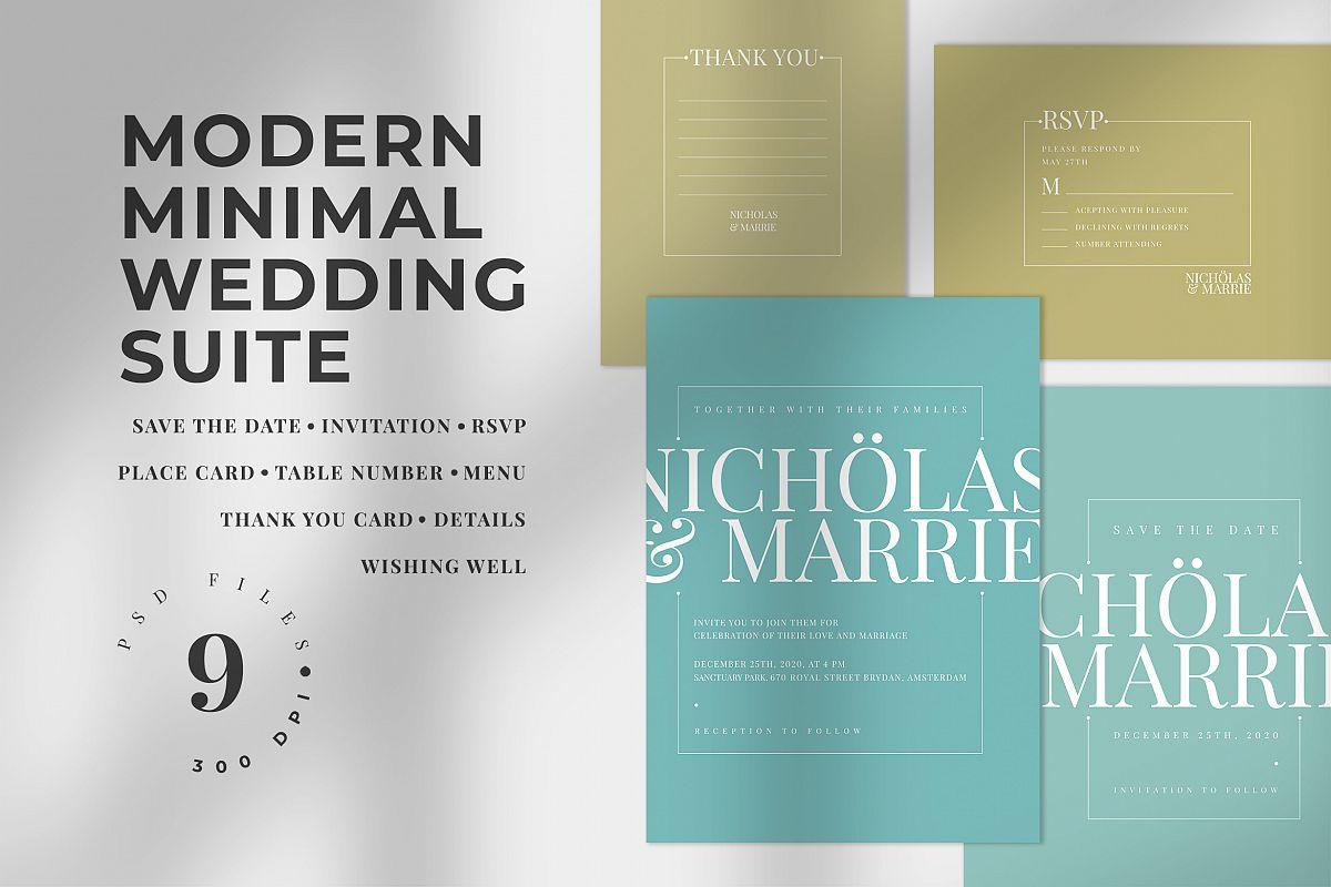 Modern Minimal Wedding Suite example image 1