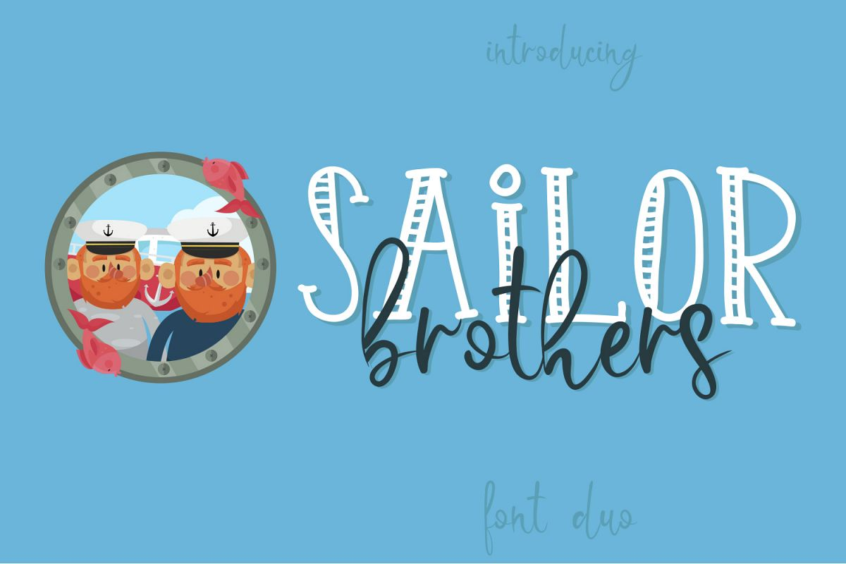Sailor Brothers Font Duo example image