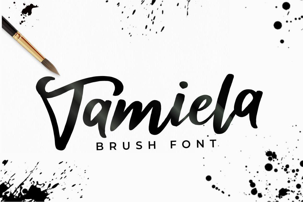Tamiela - Brush Font example image 1