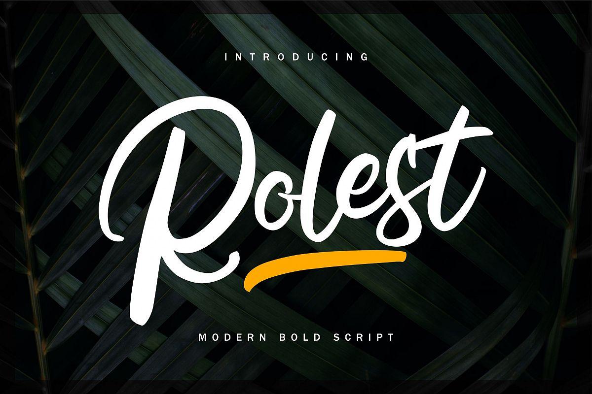 Rolest | Modern Bold Script Font example image 1