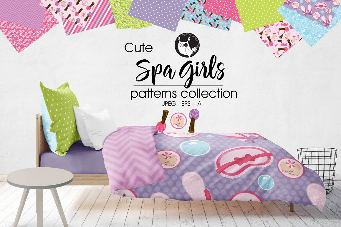 spa-girls, digital papers example image 1