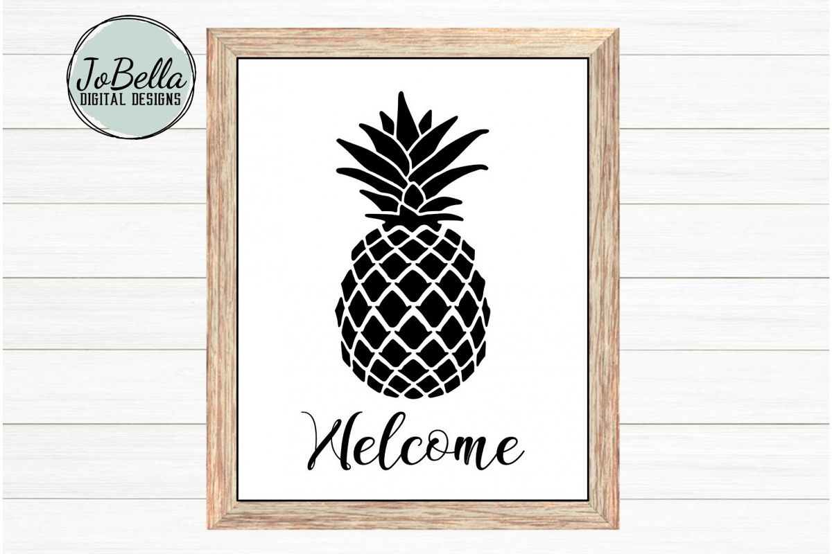 Welcome Pineapple SVG, Sublimation & Printable Farmhouse example image 1