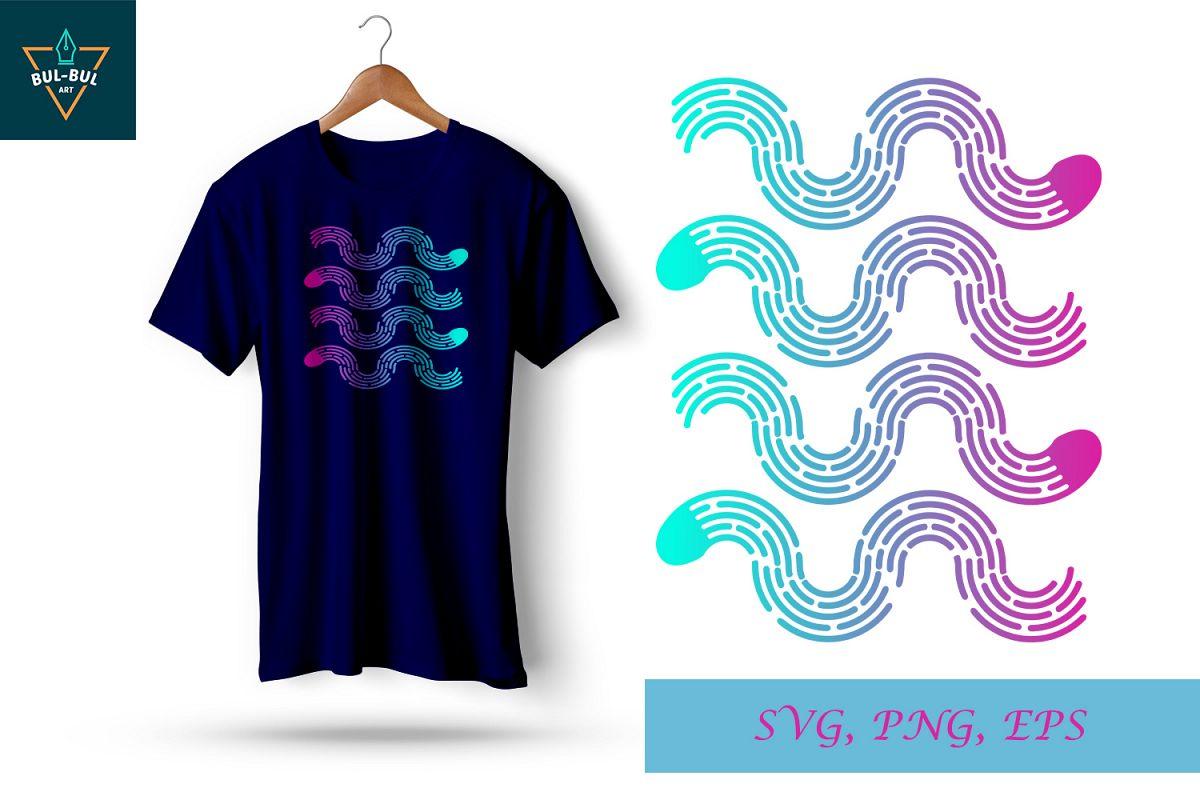 svg corrugated style line, svg line, svg file, t-shirt screen printing design example image 1