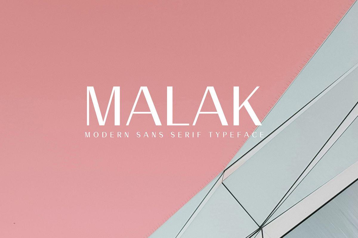 Malak Sans Serif Font Family example image 1