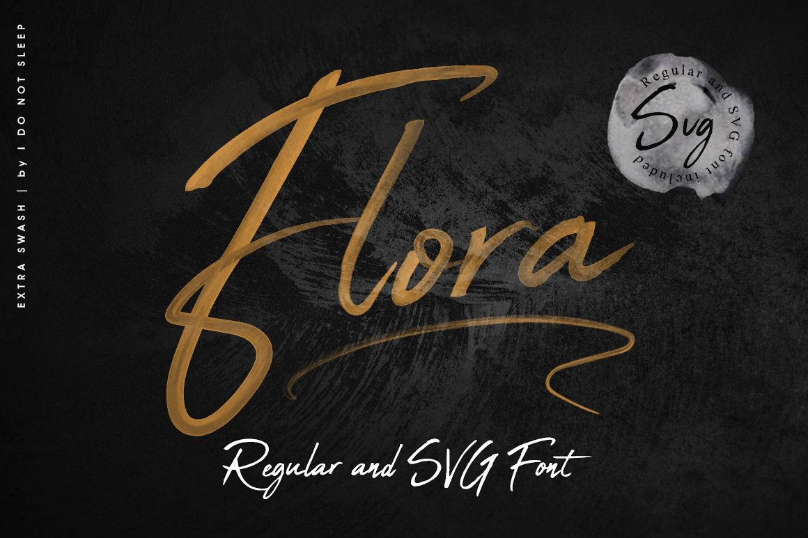 Flora SVG Font example image 1