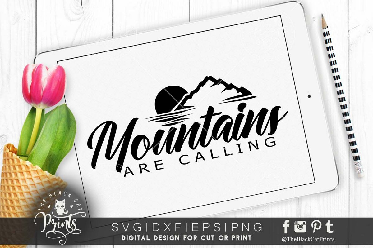 Mountains are calling SVG PNG EPS DXF example image 1