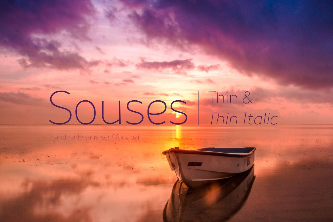 Souses — Thin & Thin Italic example image 1