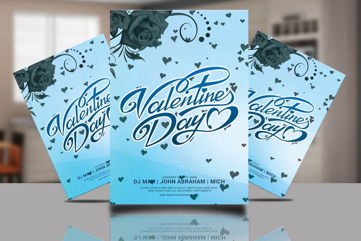 Valentine Poster Psd example image 1
