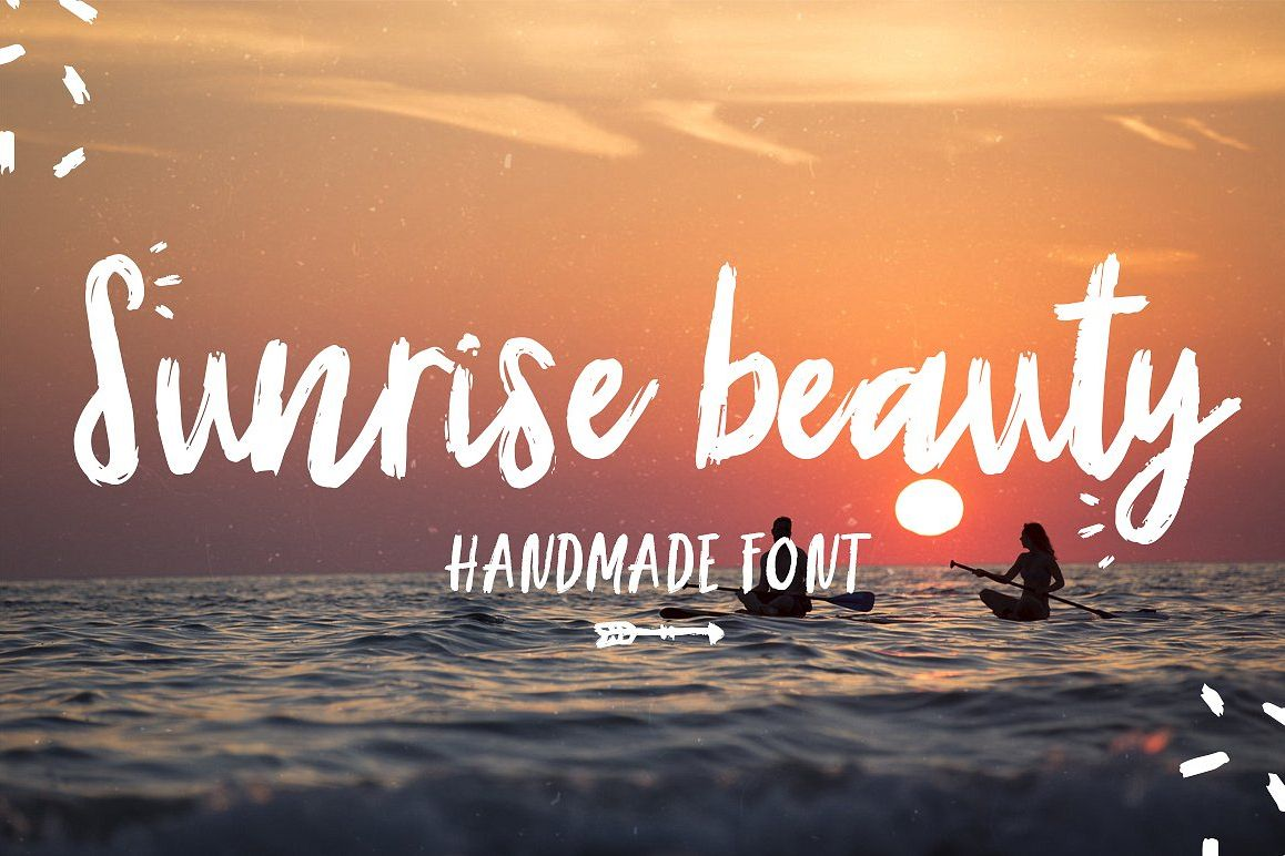 Sunrise | Handmade font and extras! example image 1