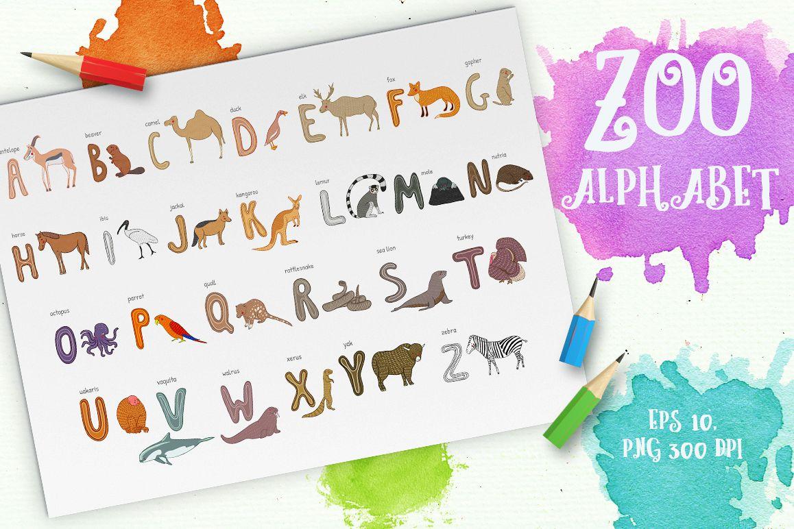 Zoo alphabet example image 1