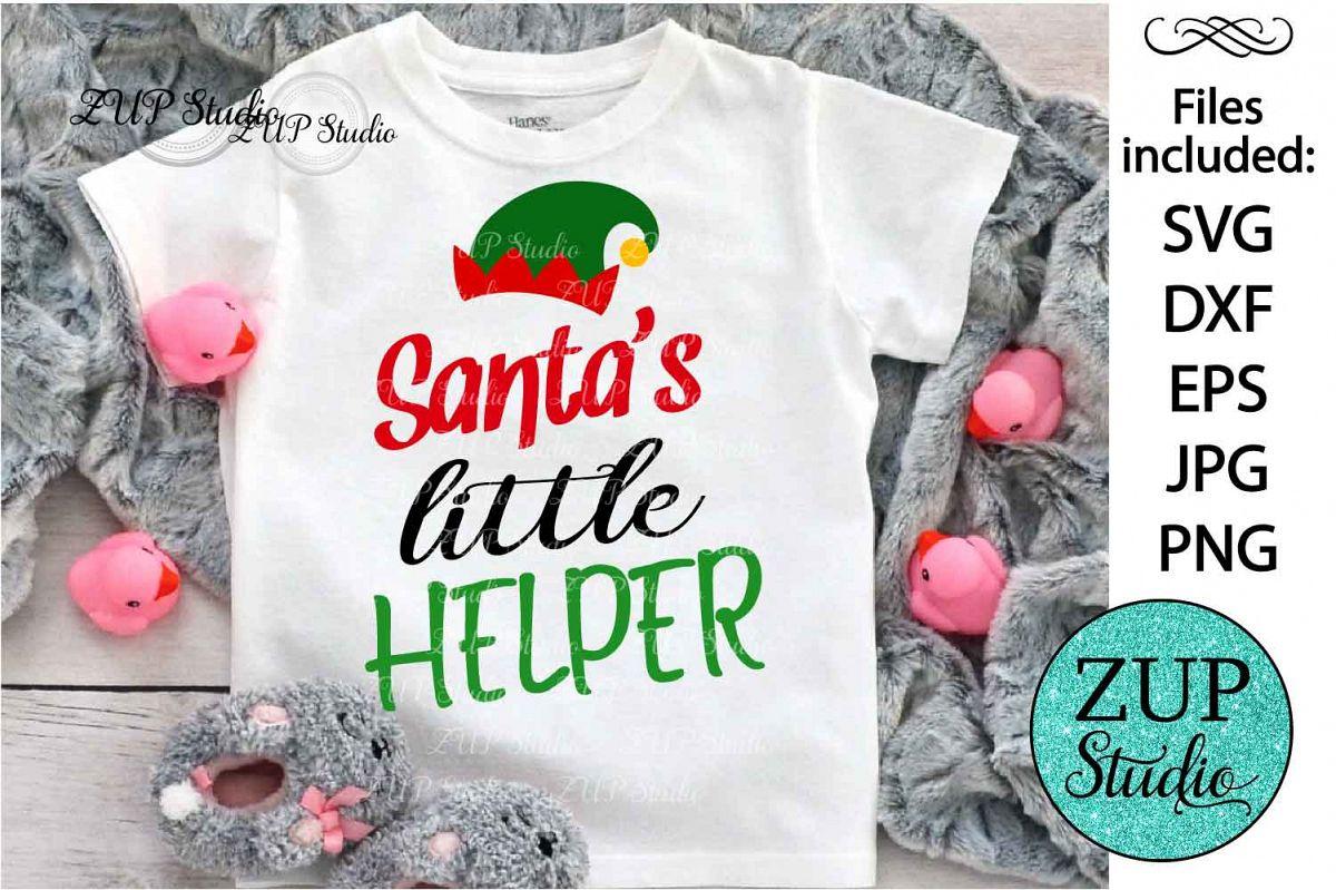 Santa's little helper Digital Cutting files file 122 example image 1