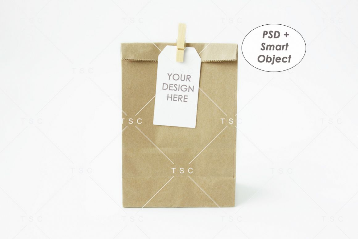 Goodie Bag Tag / Label Mockup example image 1