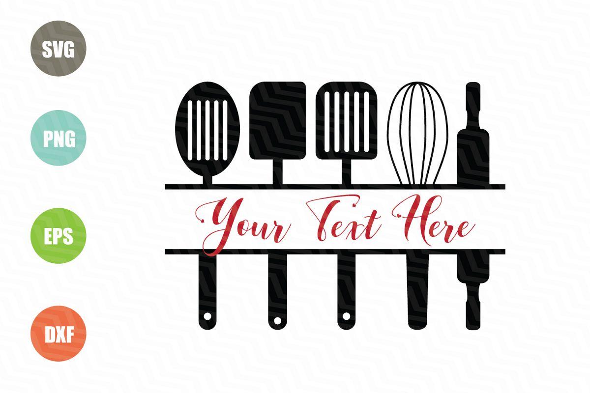 Download Kitchen Monogram SVG