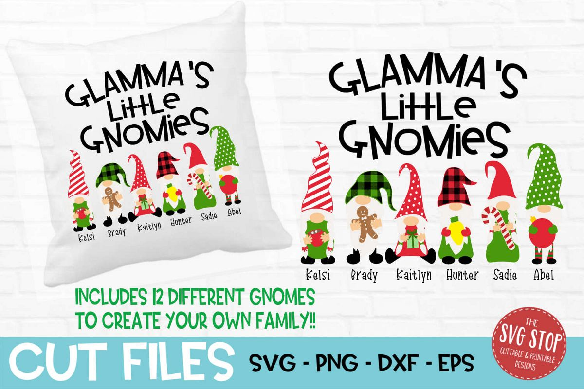 Glamma's Little Gnomies Christmas SVG, PNG, DXF, EPS example image 1