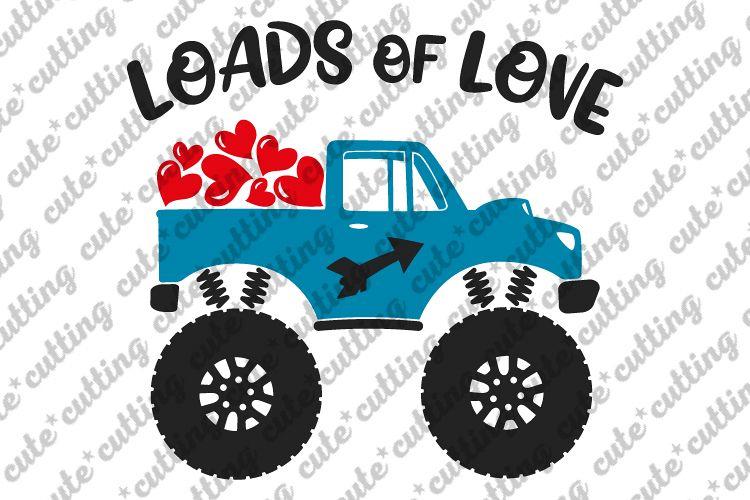 Valentines day svg, Valentines Monster truck svg example image 1
