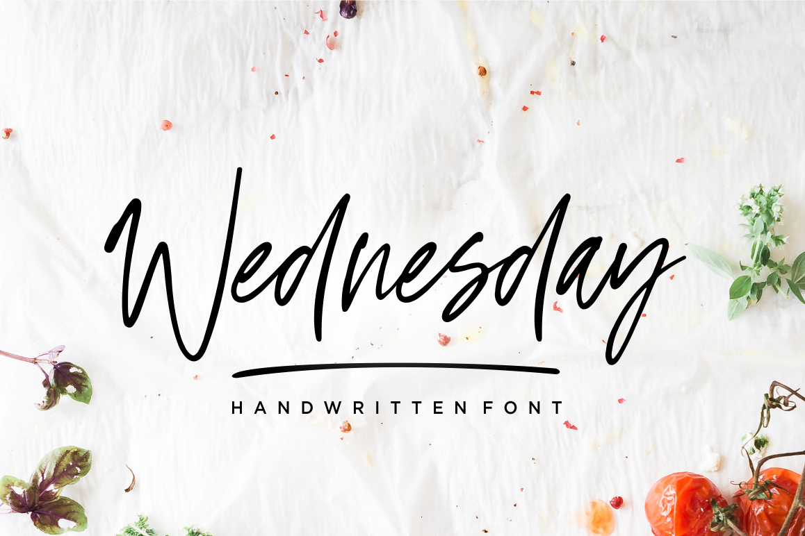 Wednesday Vibes - Handwritten Font example image 1