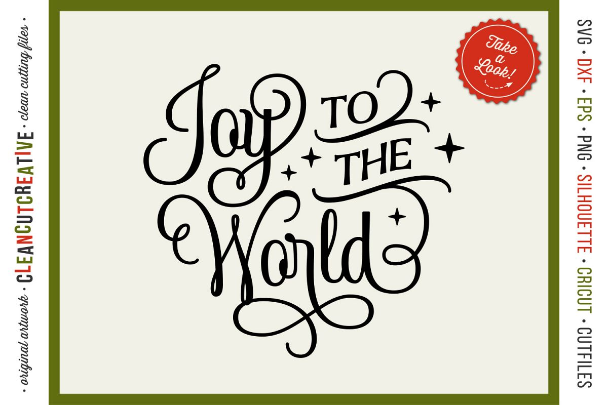 Download Joy to the World - elegant Christmas SVG design for crafters