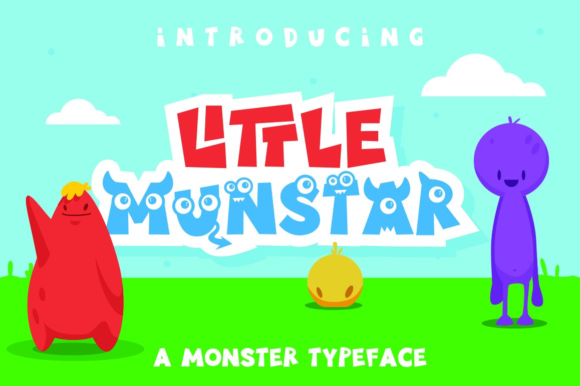 Little Munstar - A Monster Font example image 1