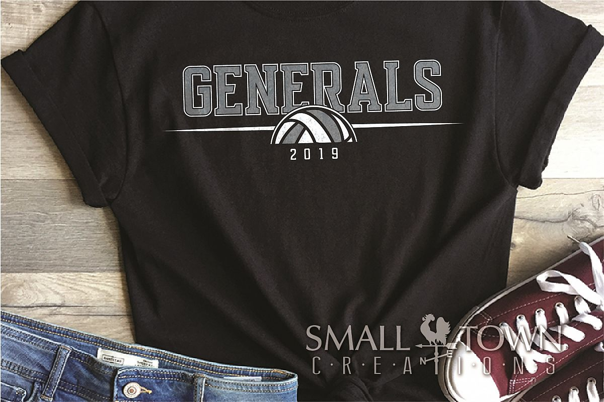 General, General volleyball, Team, logo, PRINT, CUT & DESIGN example image 1