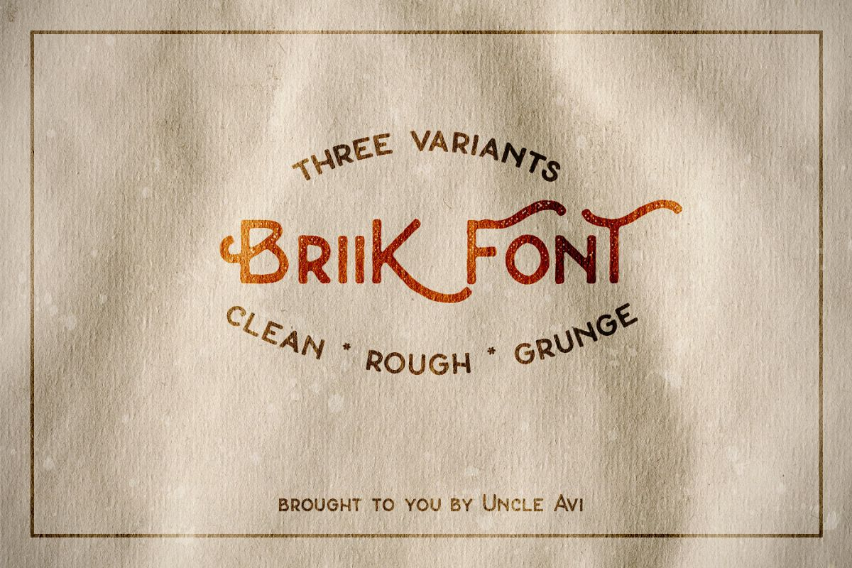 Briik - Hipster Fonts example image 1