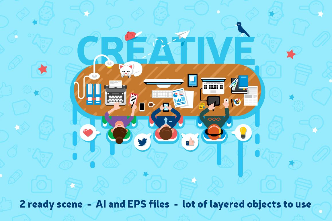 Office Workspace Scene Creator example image 1