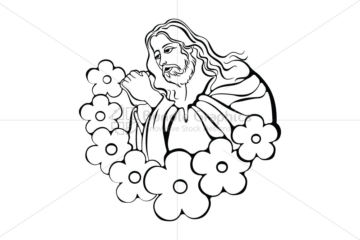Jesus Showering Blessing - Creative Artwork example image 1