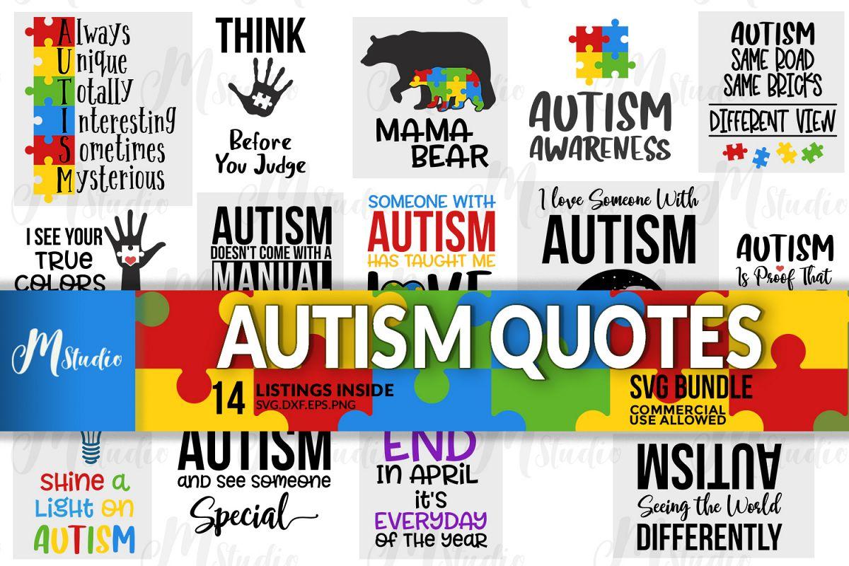 Autism Quotes svg bundle Free Download