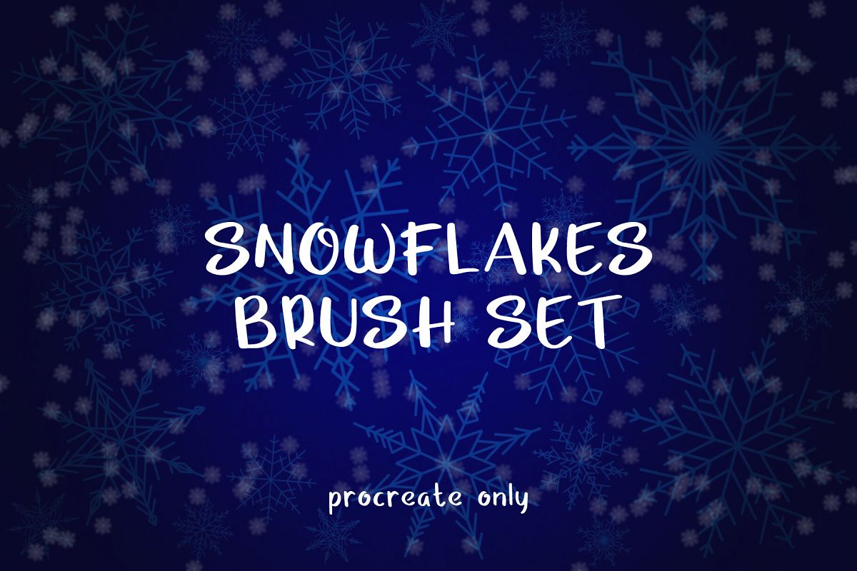 Snowflakes Brush Set - for Procreate example image 1