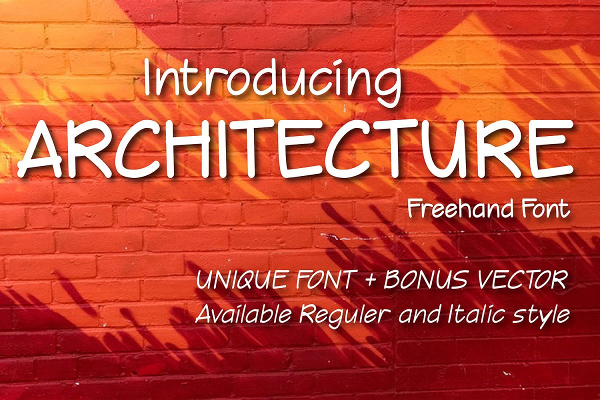 Architecture Freehand font example image 1