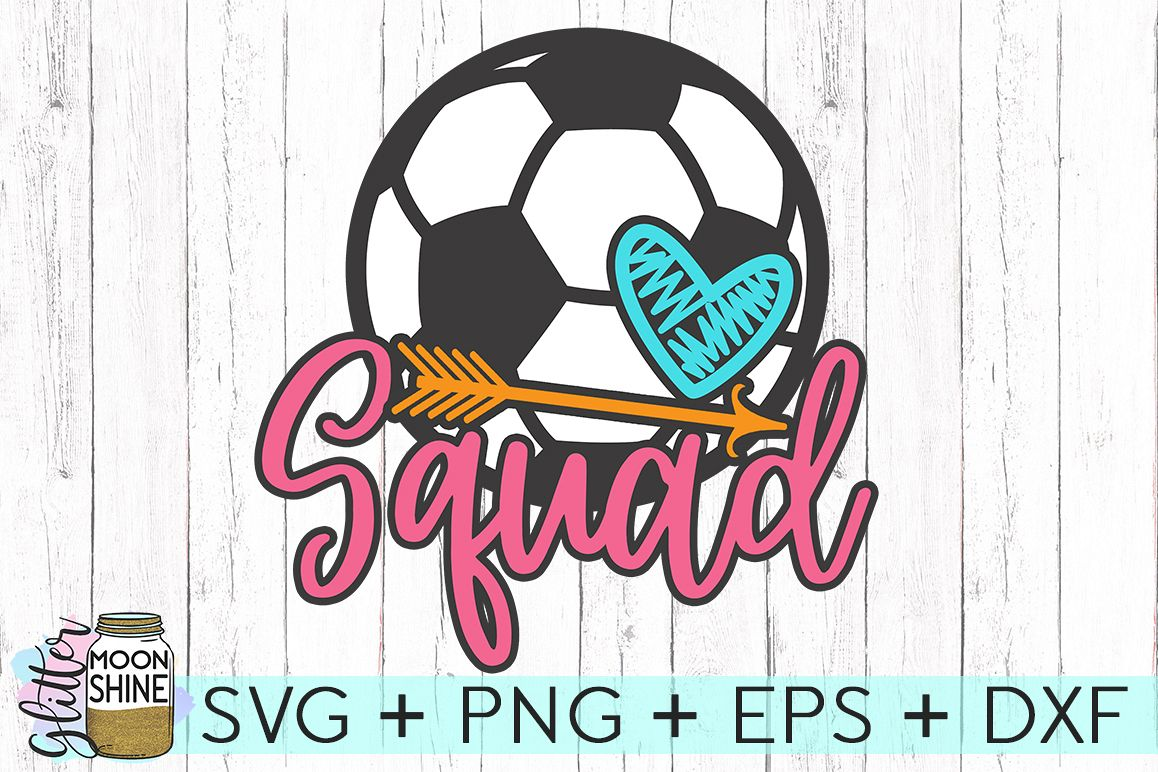 Soccer Squad SVG DXF PNG EPS Cutting Files example image 1