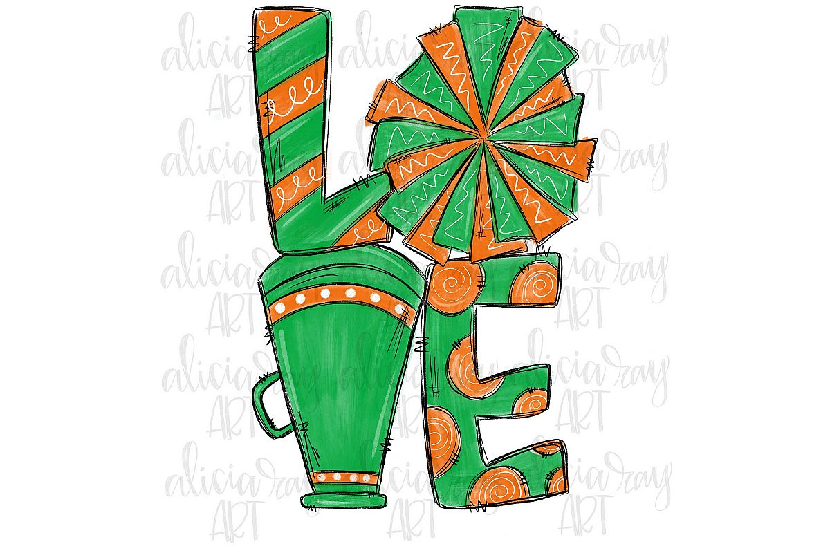 Cheer Love Green and Orange example image 1