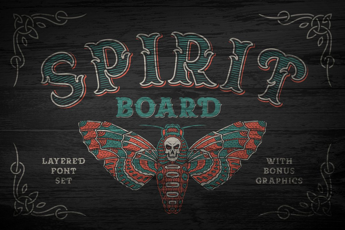 Spirit Board font set example image 1