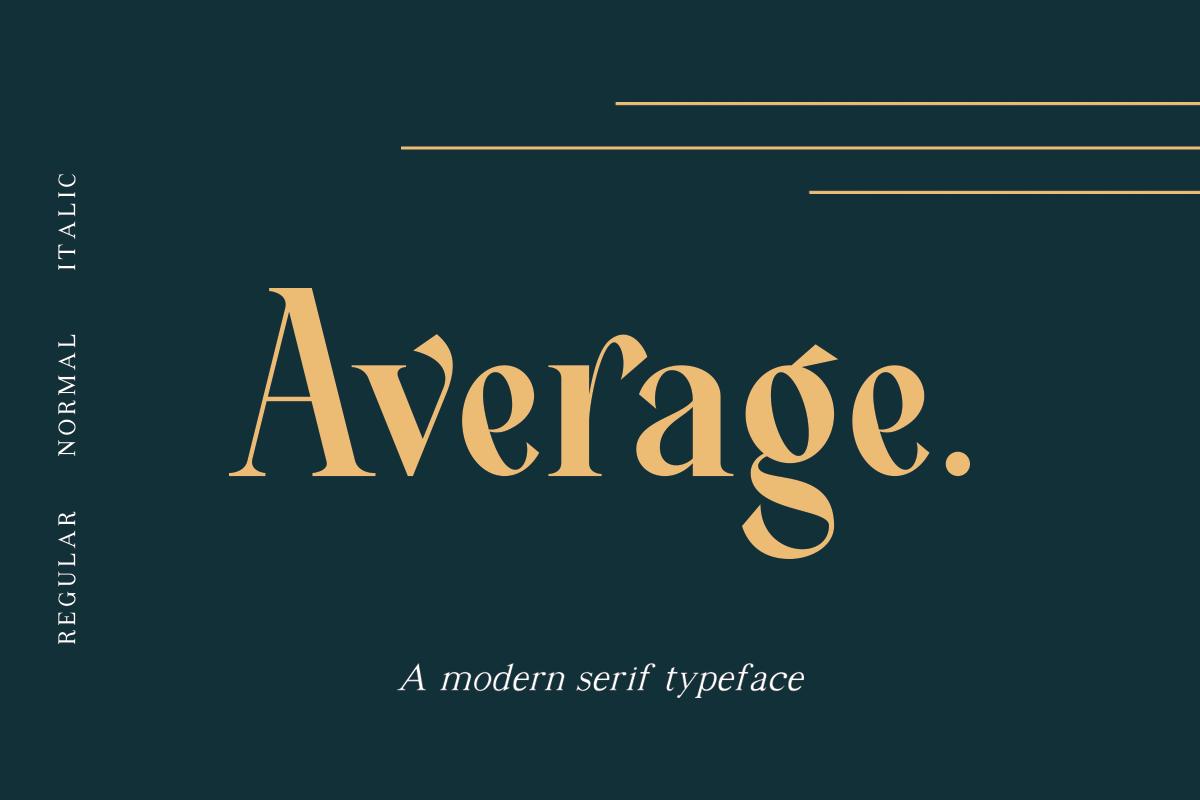 Average - Modern Serif Typeface example image 1