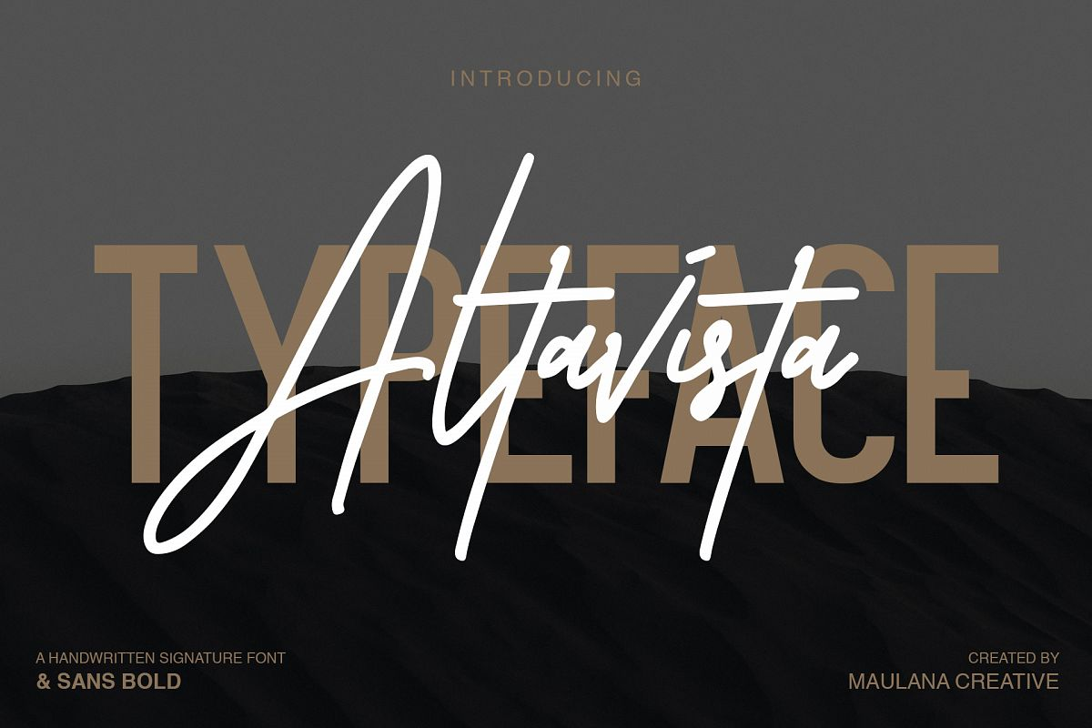 Altavista Font Duo example image 1