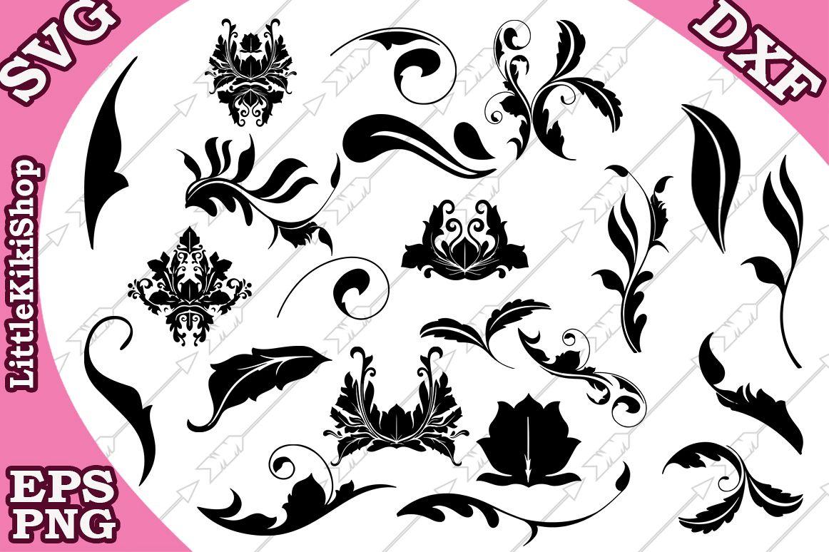 Flourish Svg , Doodles Svg,Swirls Svg,Flourish cut file example image 1