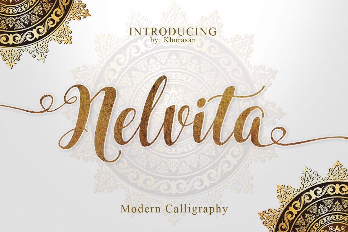 Nelvita Script (Duo Font + Extra) example image