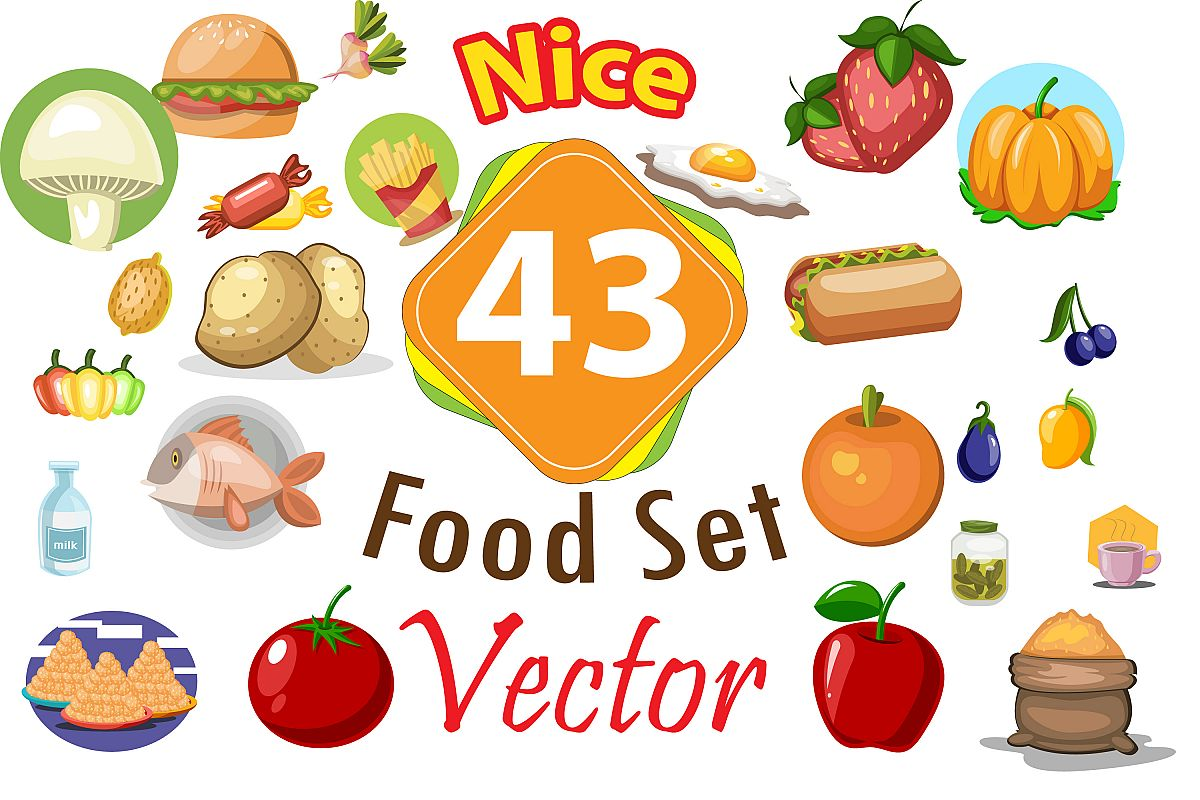 43x Food High Quality vector collection! example image 1