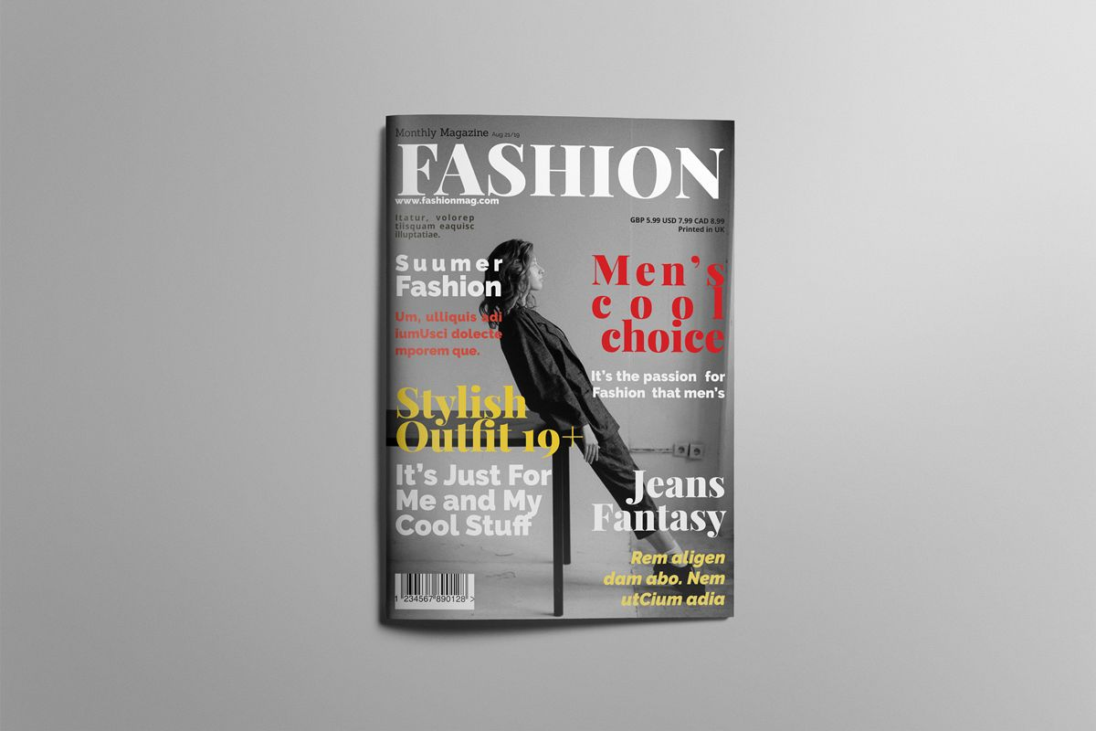 Magazine layout design example image 1