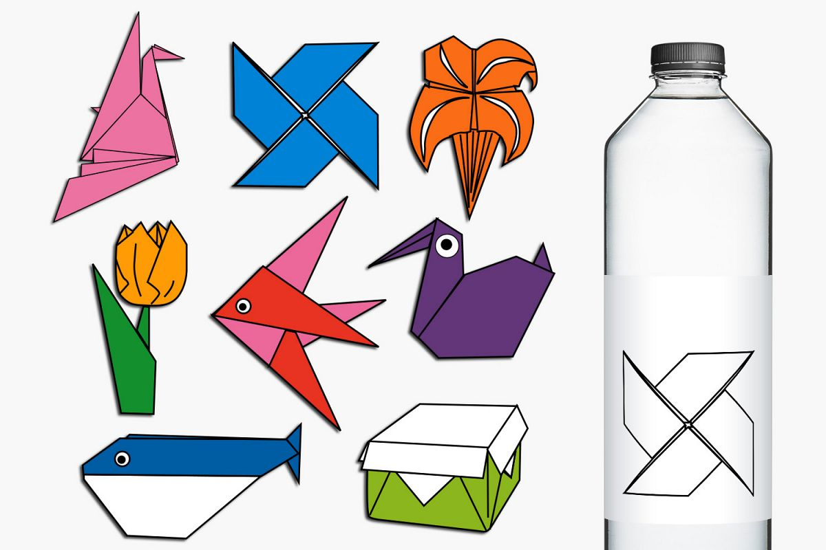 Paper Art Origami Illustrations example image 1