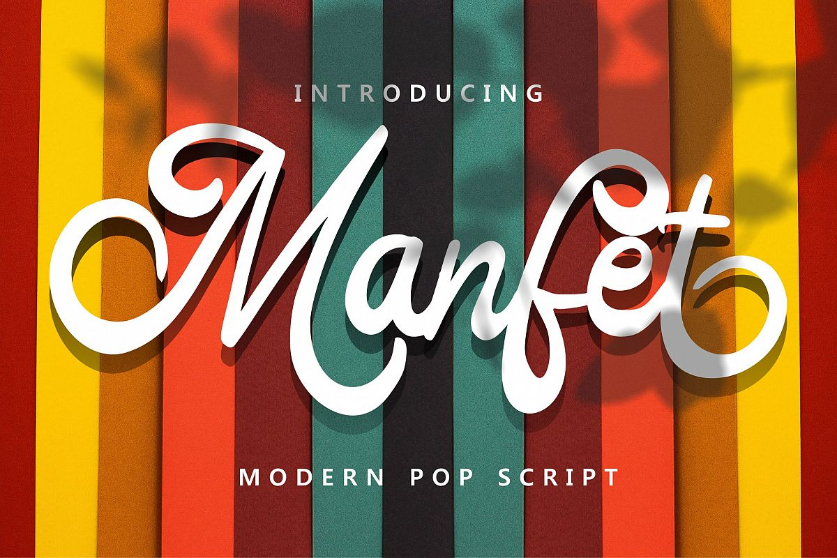 Manfet - Modern Pop Script example image 1
