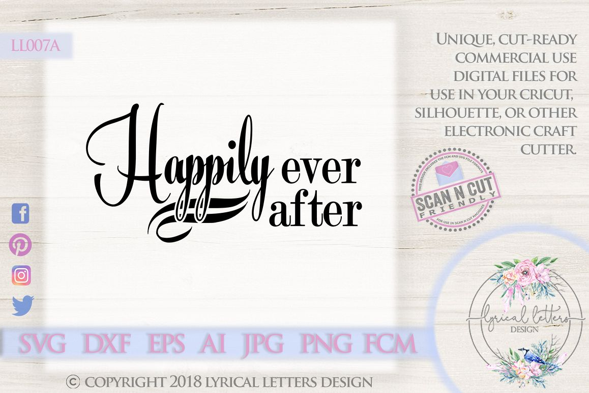 Happily Ever After Wedding SVG DXF Cut File LL007A example image 1