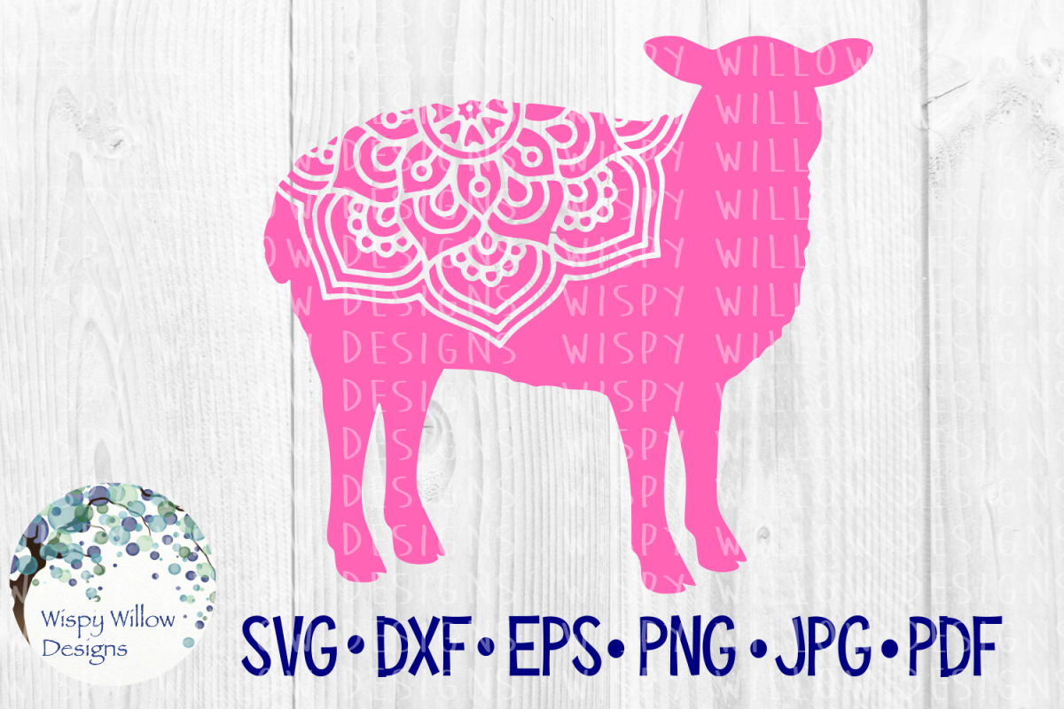 Sheep Mandala, Farm Animal SVG Cut File example image 1