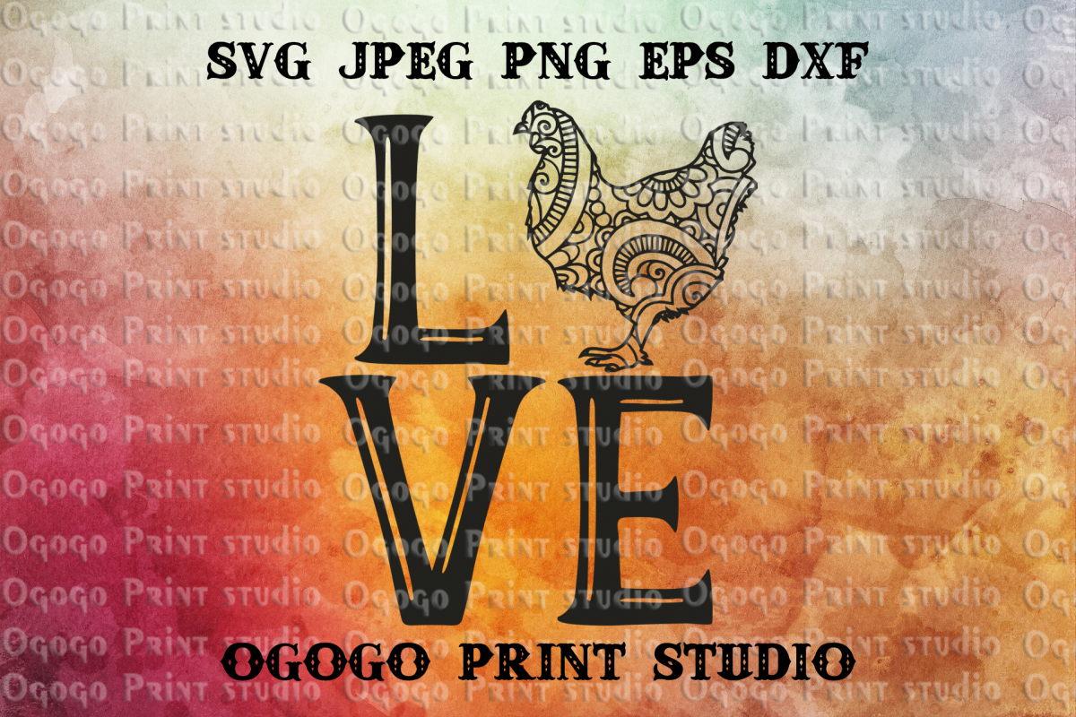 Chicken SVG, Zentangle Svg, Easter SVG, Mandala svg, Cricut example image 1