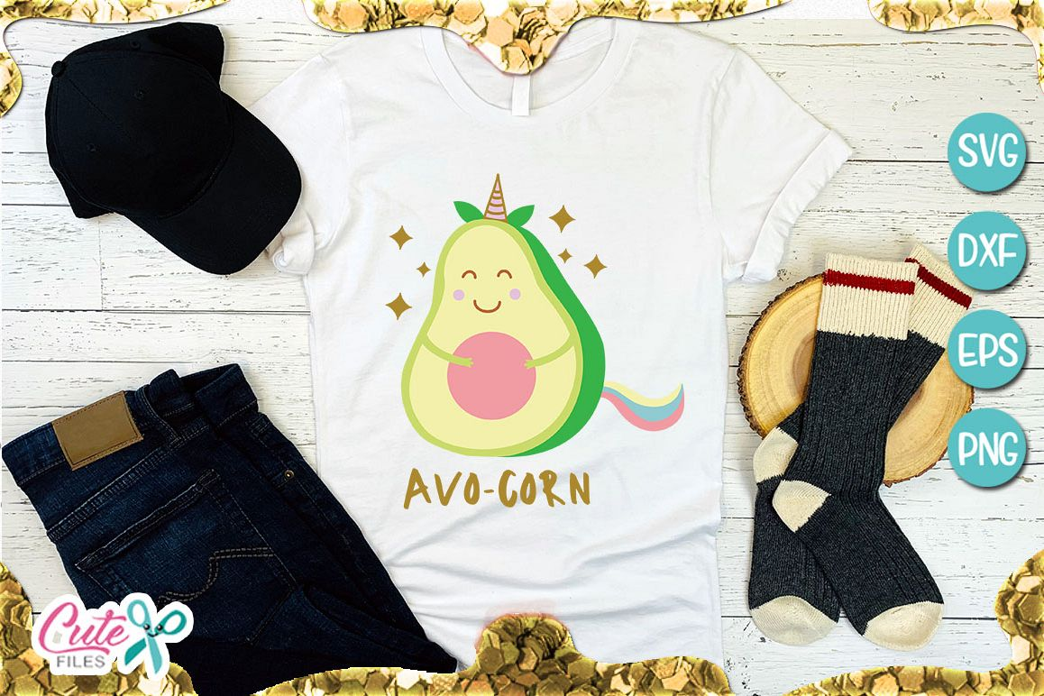 Avo-corn unicorn SVG for crafter example image 1