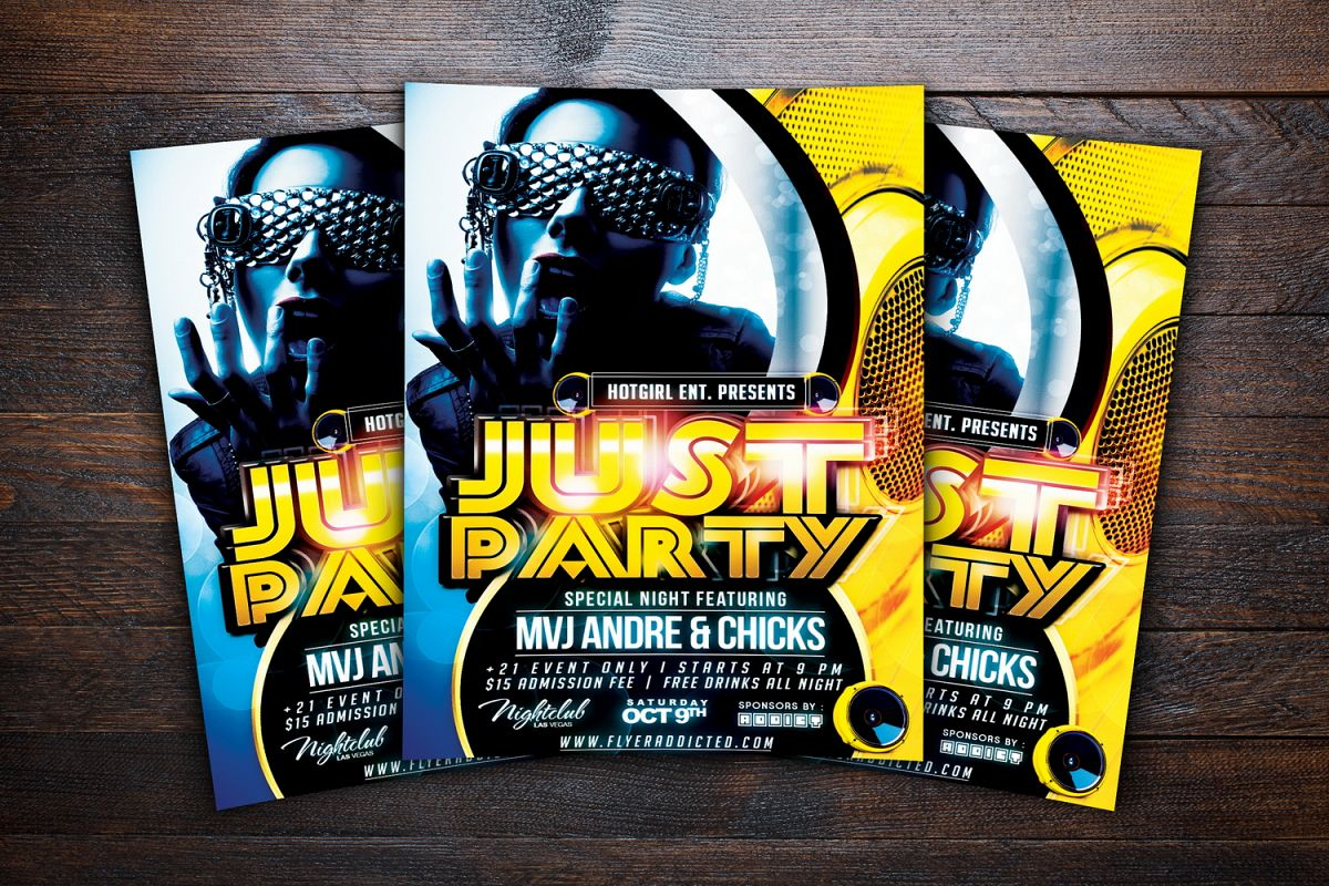 Just Party Flyer example image 1