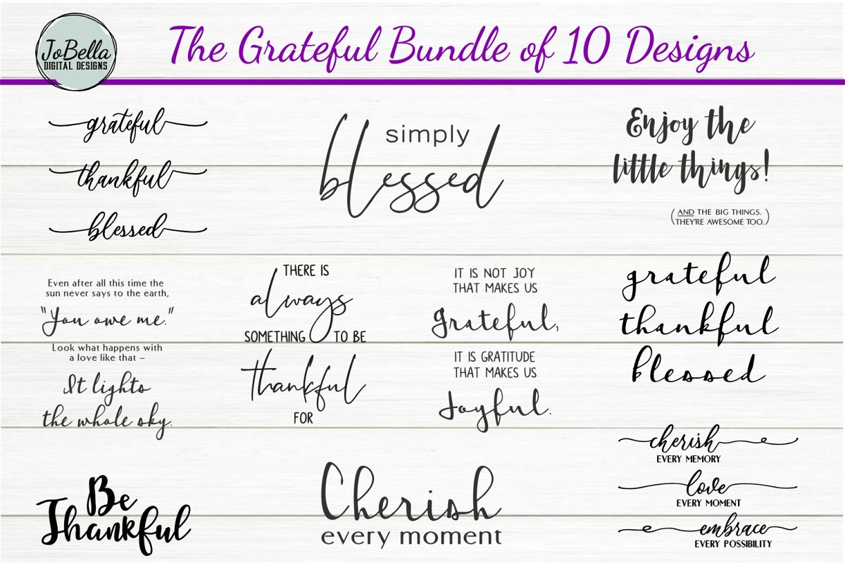 The Grateful SVG and Printable Bundle of 10 Designs example image 1